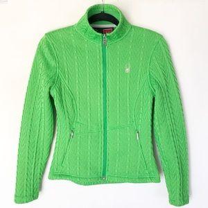SPYDER cable knit zip up jacket